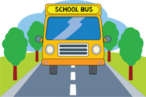 School Bus On Road Back To School Clipart